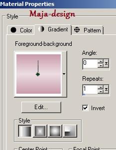 gradient beállítása