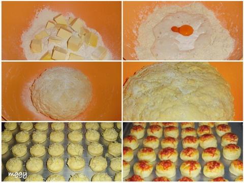 Tejfölös pogácsa készítése képekben