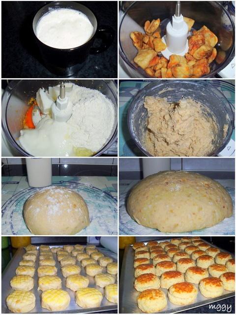 Tepertős pogácsa készítése képekben.