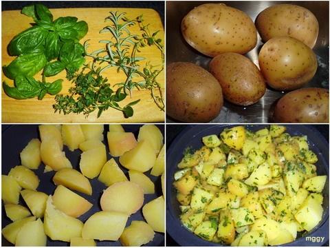 Fűszeres főtt burgonya - képekben