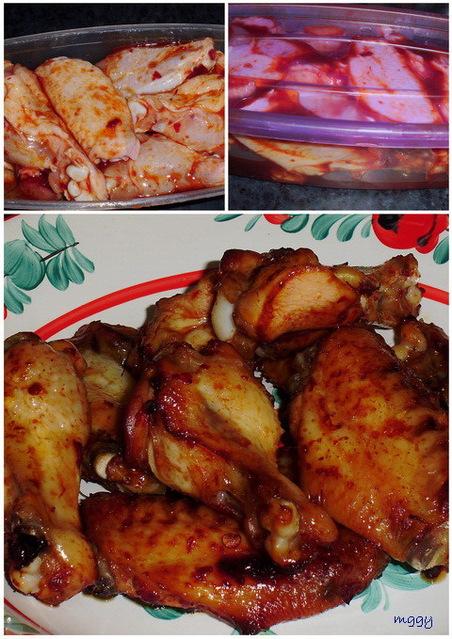 Sült csirkeszárnyak (csípős_édes) - készítése képekben.