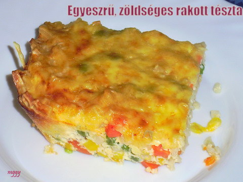 EGyszerű, zöldséges rakott tészta