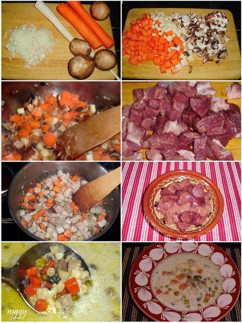 Legényfogó leves készítése képekben.