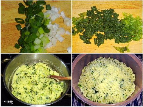 Kelkáposztás krumplipüré készítése képekben.