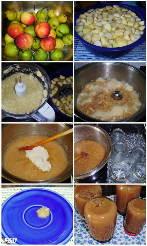 Almás körtelekvár készítése képekben