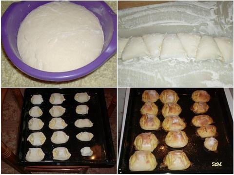 Margarinos sós rombusz készítése képekben.