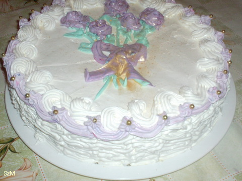 Fehércsokis torta