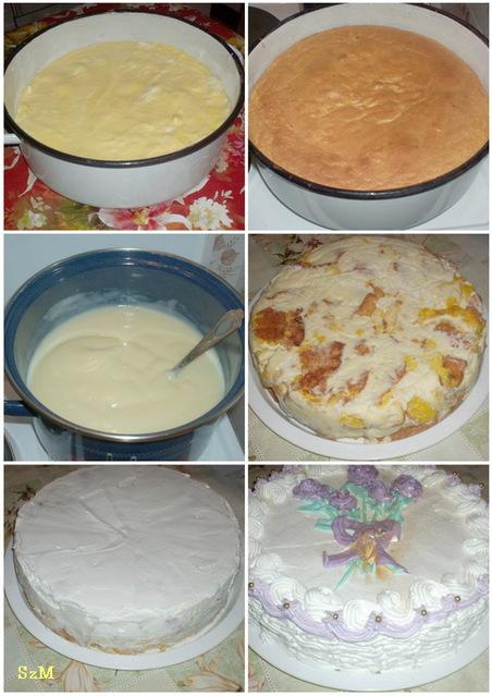 Fehércsokis torta készítése képekben.