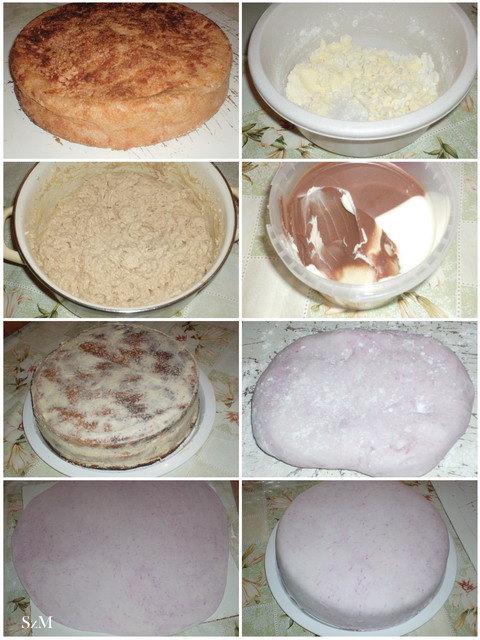 Nutellás torta készítése képekben.