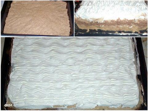 Krémes sütemény készítése képekben.