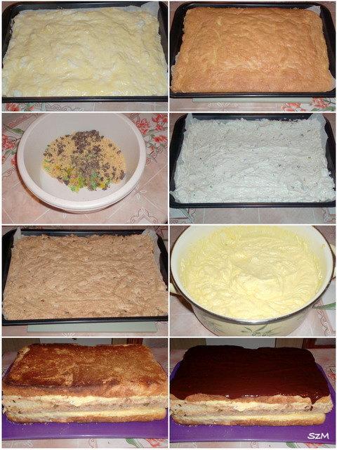 Zselés torta készítése képekben.