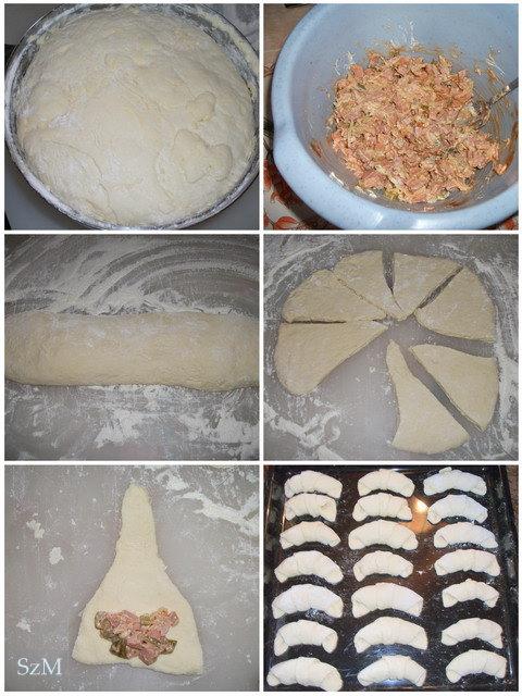 Pizzás kifli készítése képekben