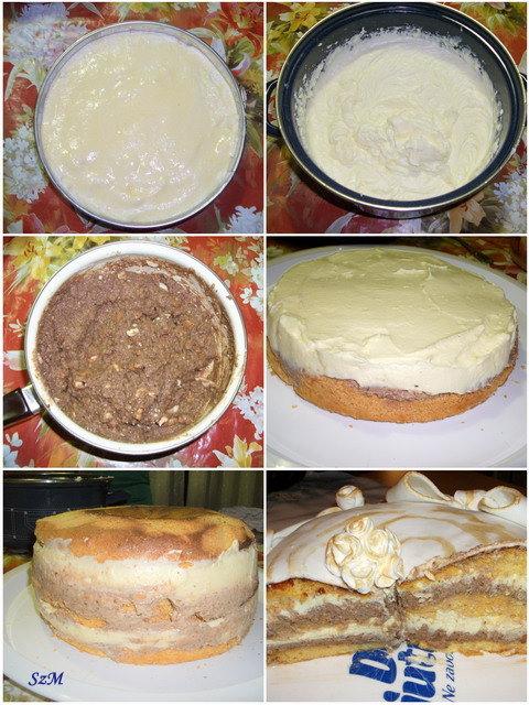 Ünnepi torta készítése képekben.