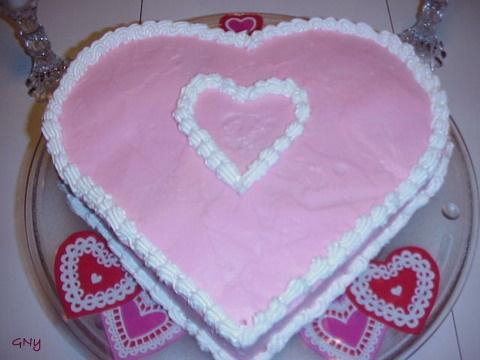 Szív alakú torta.