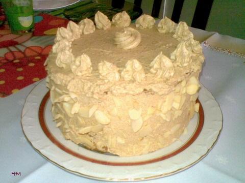 Legyező torta díszítve