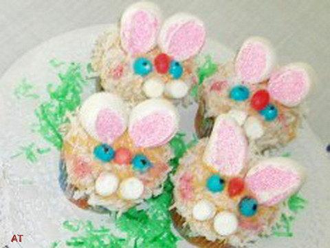 Hósvéti nyuszi muffin rózsaszín fülekkel